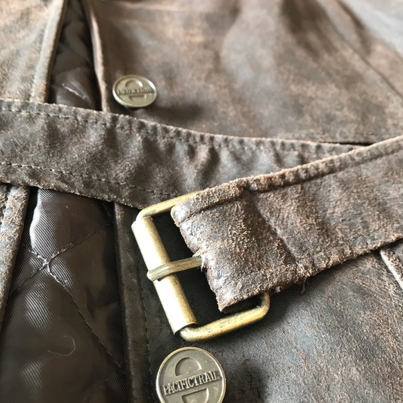 3/$20 👀 Pacific Trail Distressed Leather Jacket